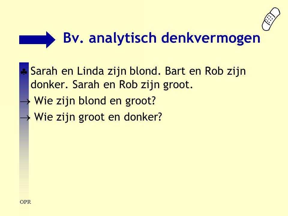 Bv. analytisch denkvermogen