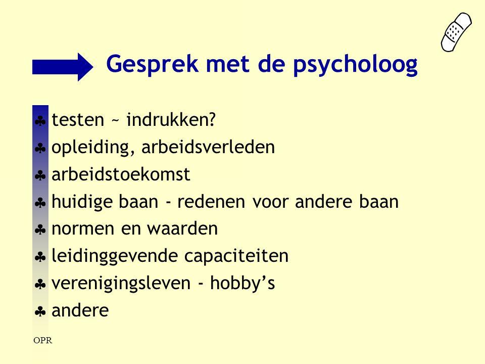 Gesprek met de psycholoog