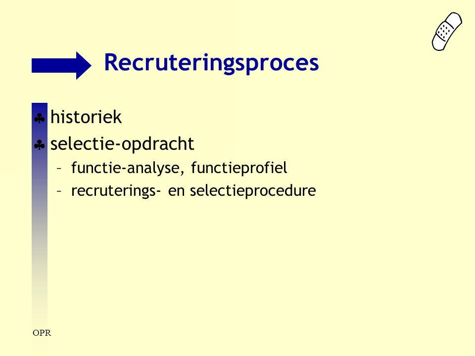 Recruteringsproces historiek selectie-opdracht