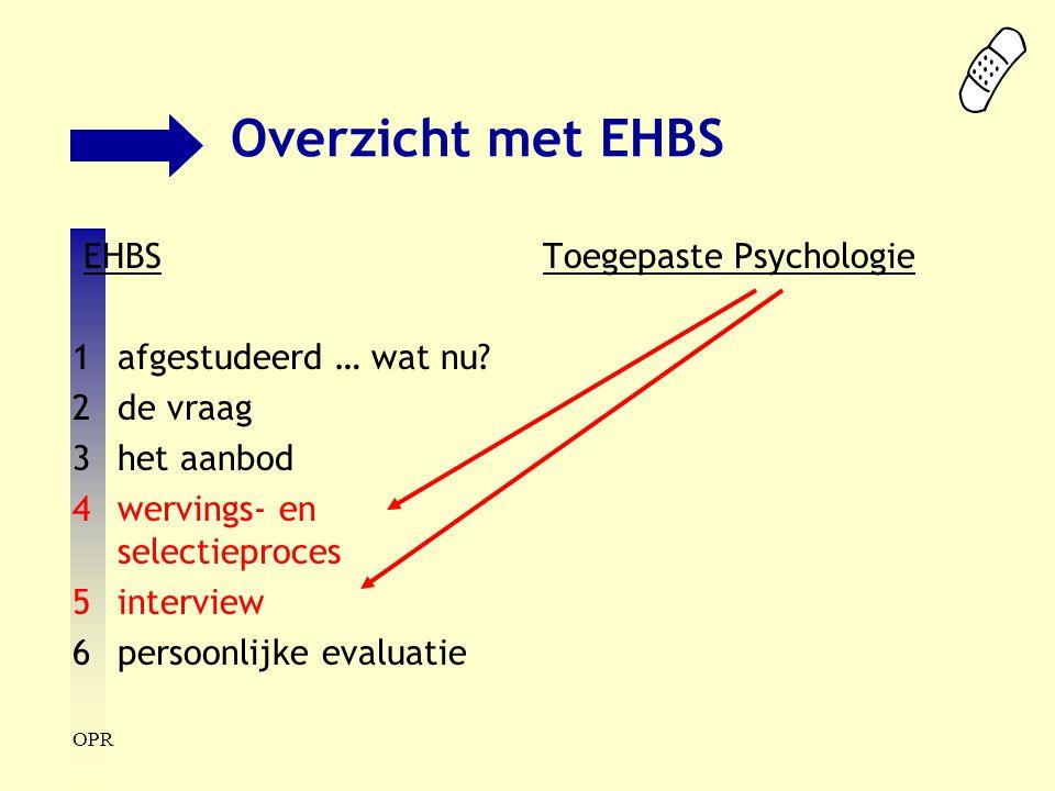 Overzicht met EHBS EHBS 1 afgestudeerd … wat nu 2 de vraag