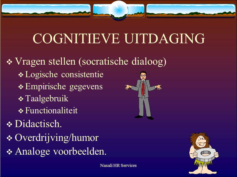 COGNITIEVE UITDAGING Vragen stellen (socratische dialoog) Didactisch.