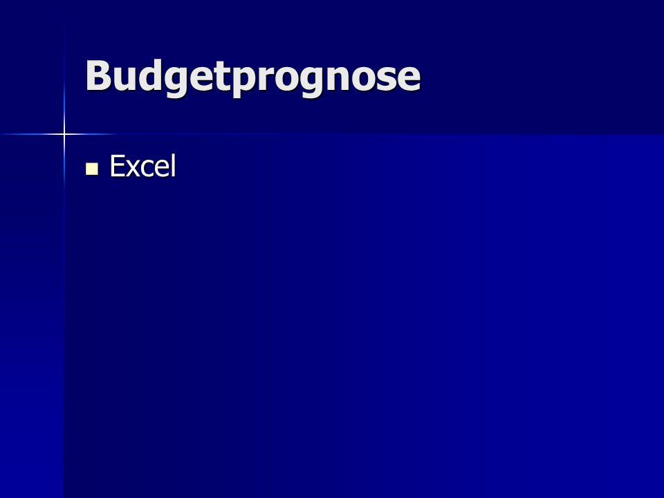 Budgetprognose Excel