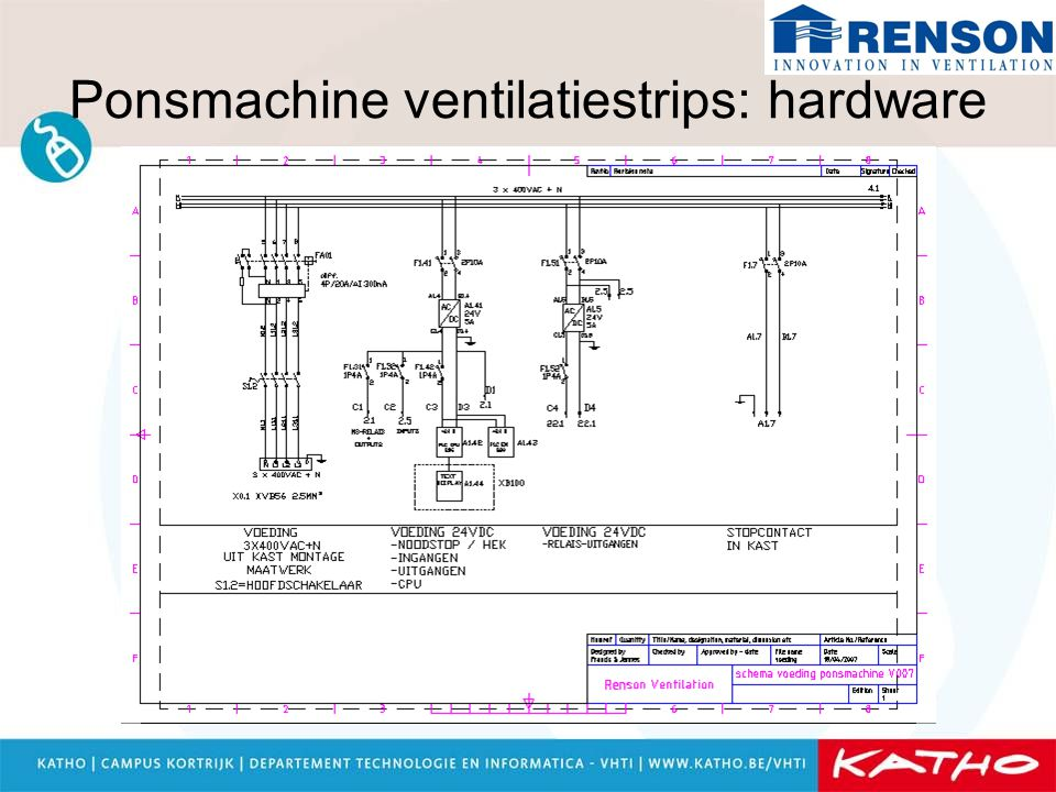 Ponsmachine ventilatiestrips: hardware