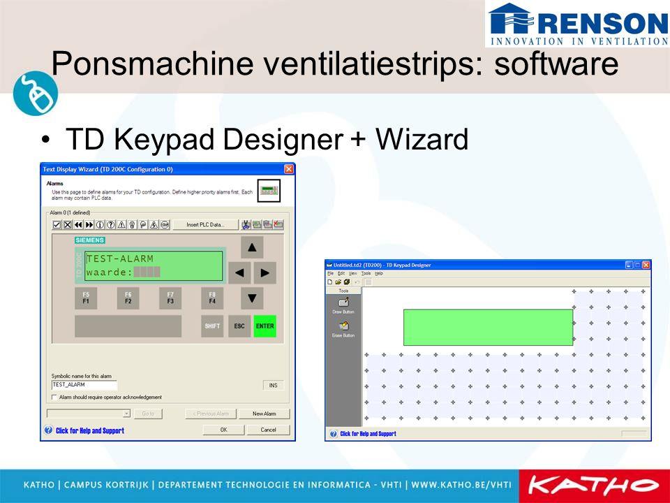 Ponsmachine ventilatiestrips: software