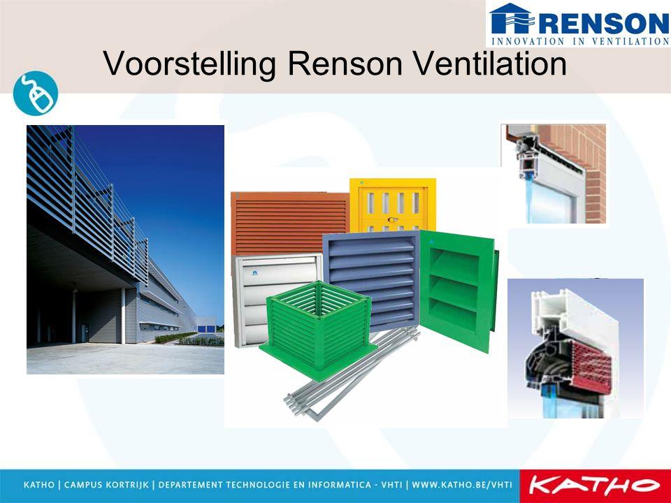 Voorstelling Renson Ventilation