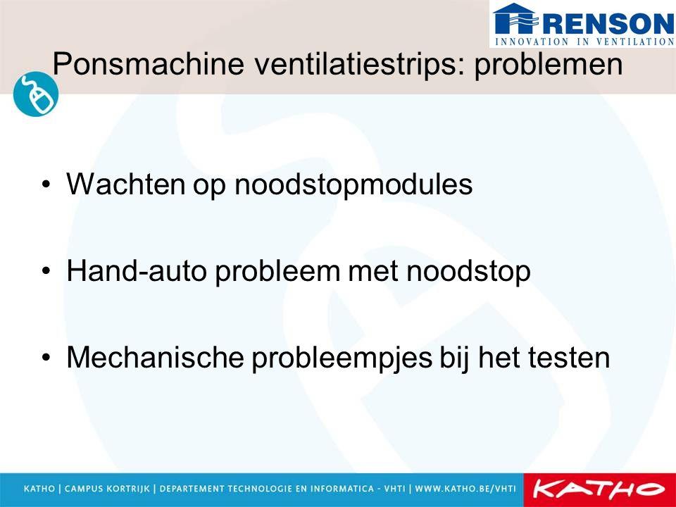 Ponsmachine ventilatiestrips: problemen