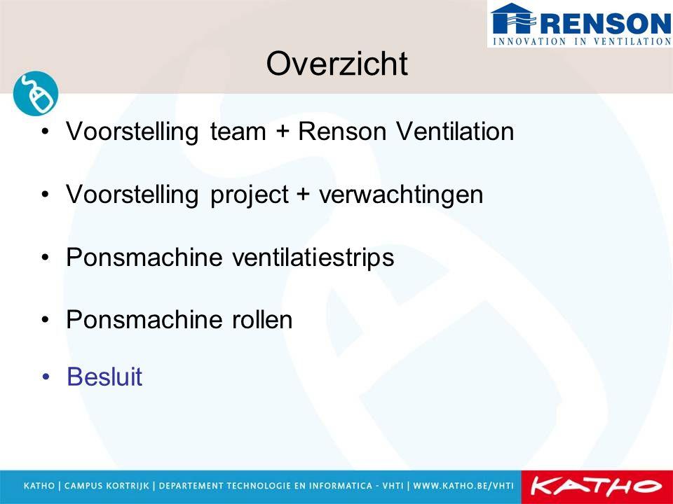 Overzicht Voorstelling team + Renson Ventilation