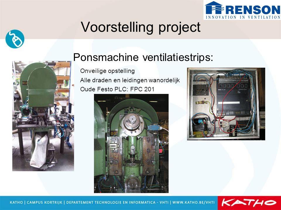 Voorstelling project Ponsmachine ventilatiestrips: