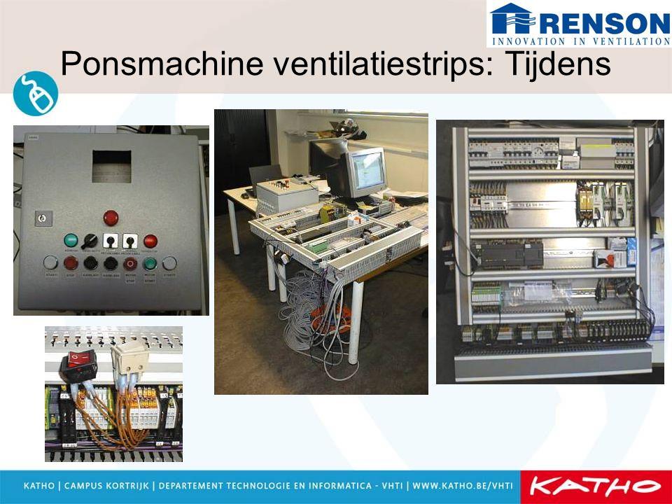 Ponsmachine ventilatiestrips: Tijdens