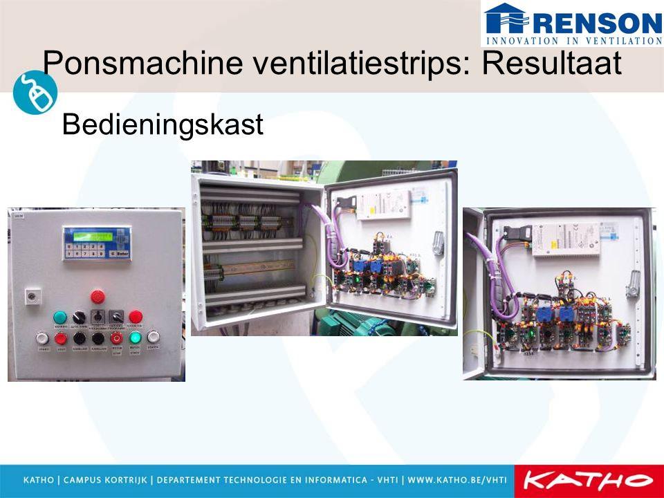 Ponsmachine ventilatiestrips: Resultaat