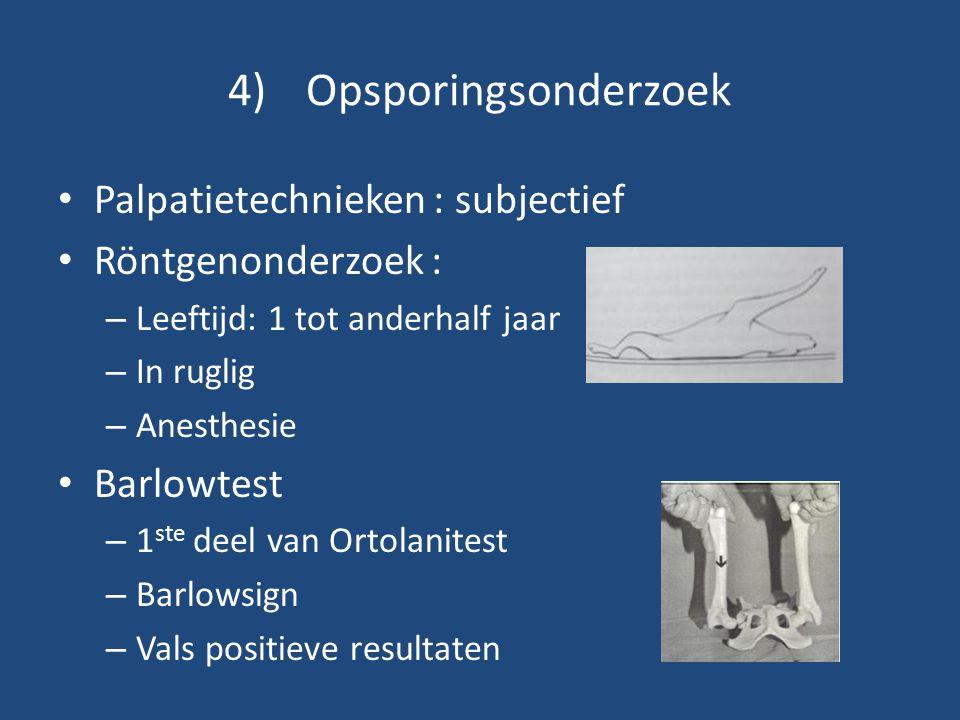 Opsporingsonderzoek Palpatietechnieken : subjectief Röntgenonderzoek :
