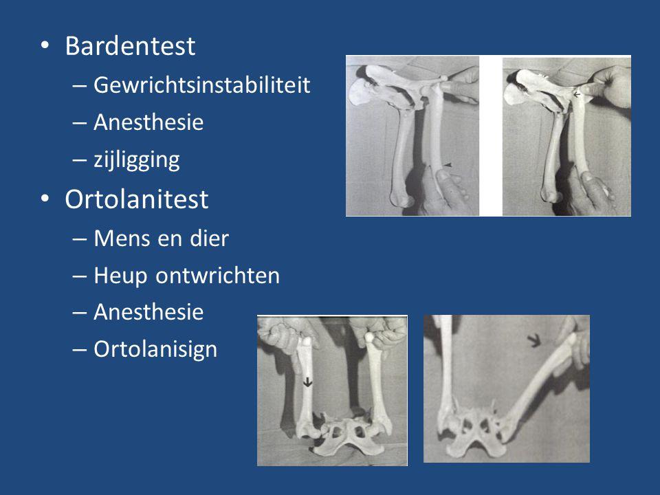 Bardentest Ortolanitest Gewrichtsinstabiliteit Anesthesie zijligging