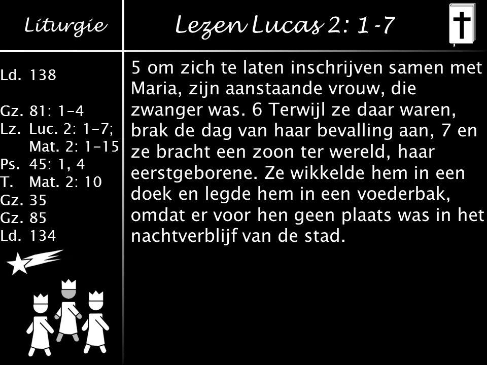 Lezen Lucas 2: 1-7