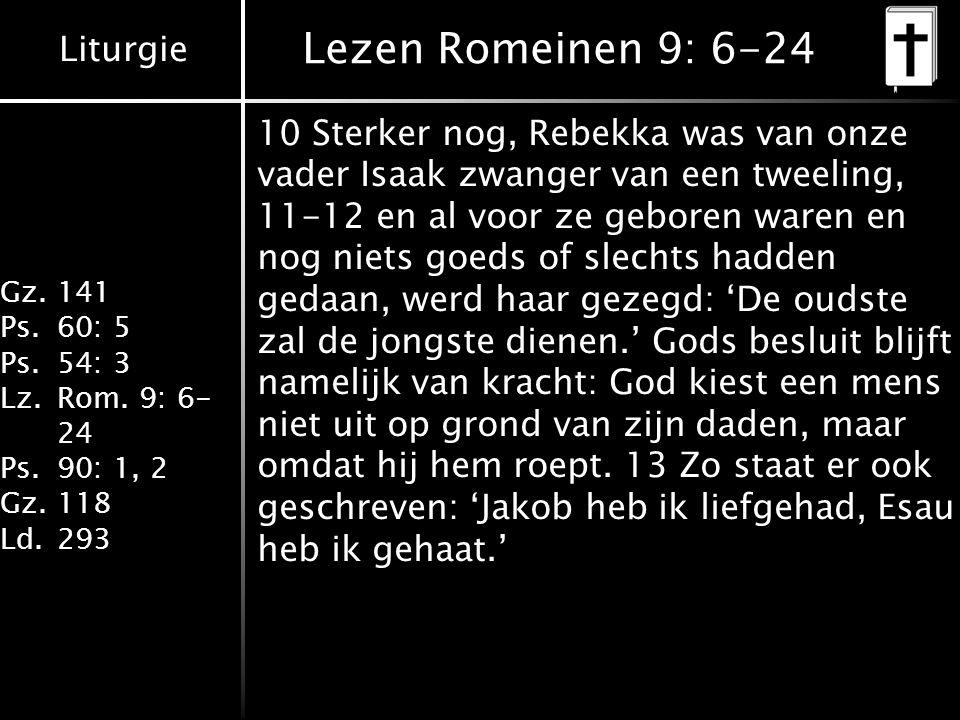 Lezen Romeinen 9: 6-24