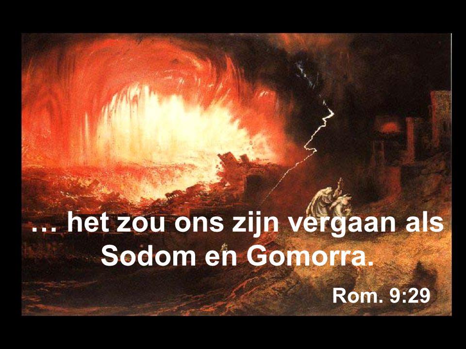 … het zou ons zijn vergaan als Sodom en Gomorra.