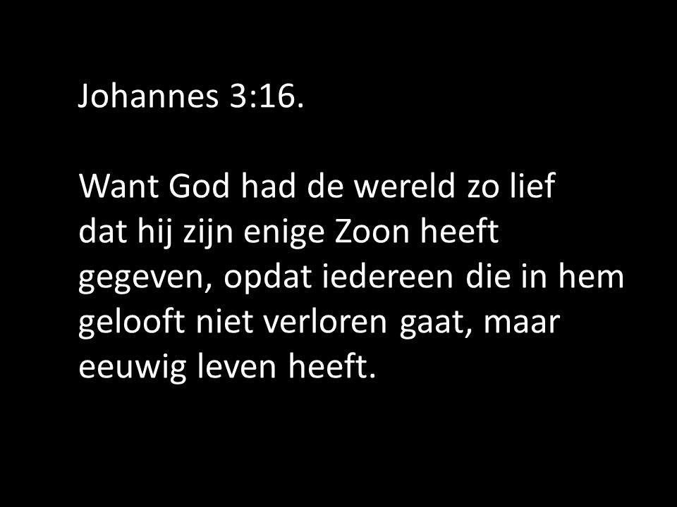 Johannes 3:16.