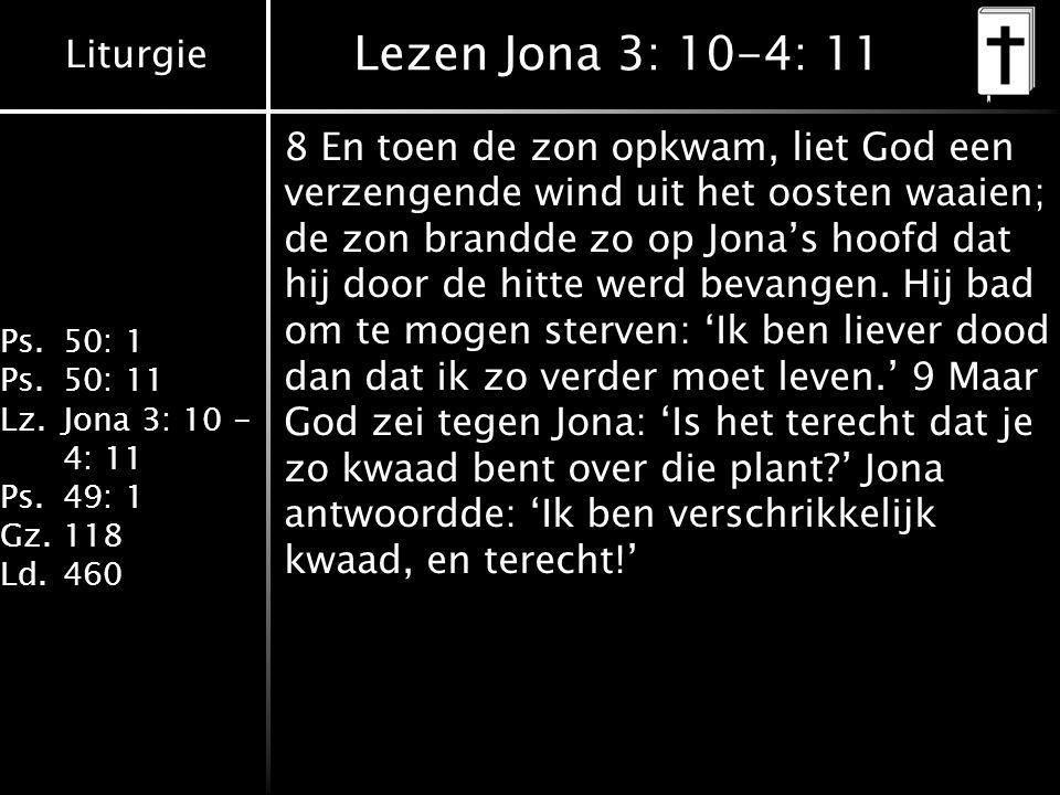 Lezen Jona 3: 10-4: 11