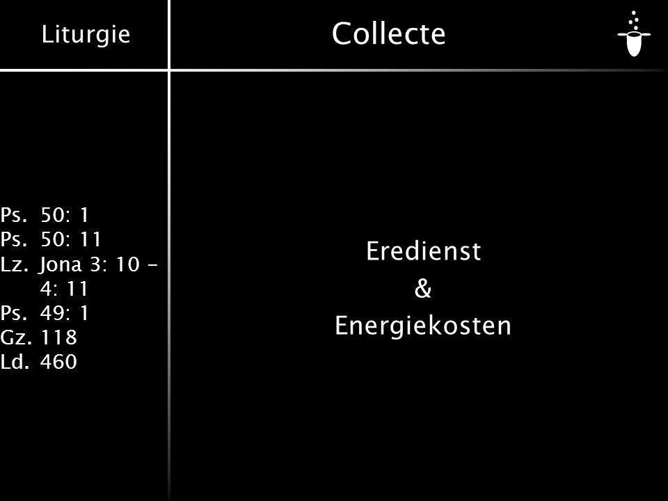 Eredienst & Energiekosten