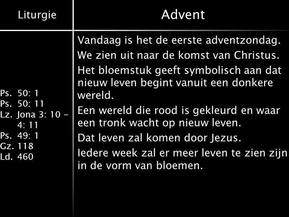 Advent Vandaag is het de eerste adventzondag.