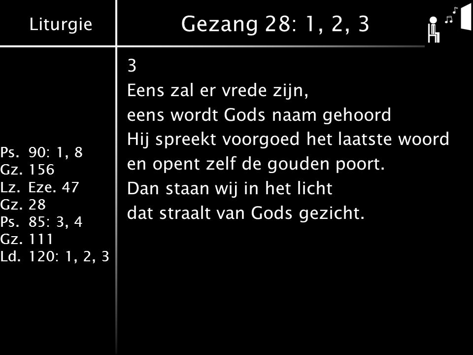 Gezang 28: 1, 2, 3