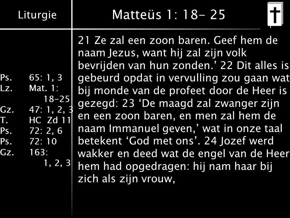 Matteüs 1: 18- 25