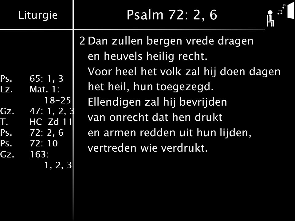 Psalm 72: 2, 6