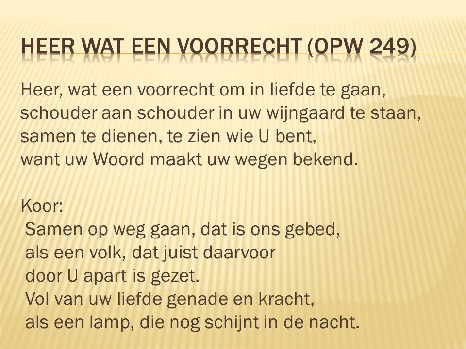 Heer wat een voorrecht (opw 249)