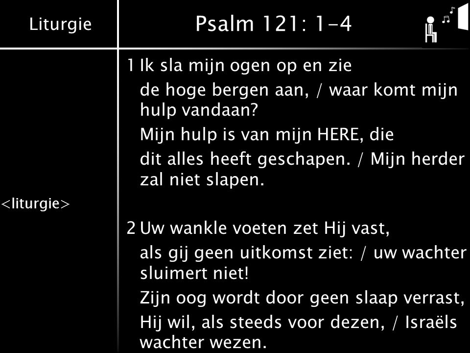 Psalm 121: 1-4