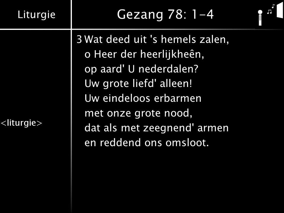 Gezang 78: 1-4 3 Wat deed uit s hemels zalen,