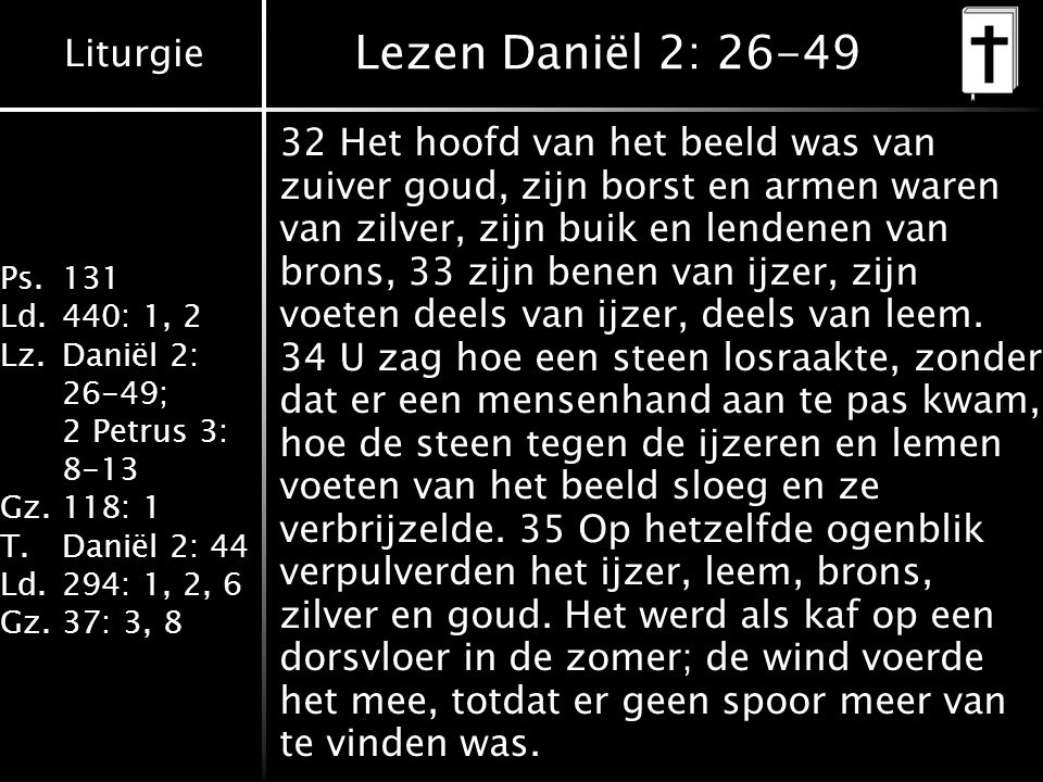 Lezen Daniël 2: 26-49