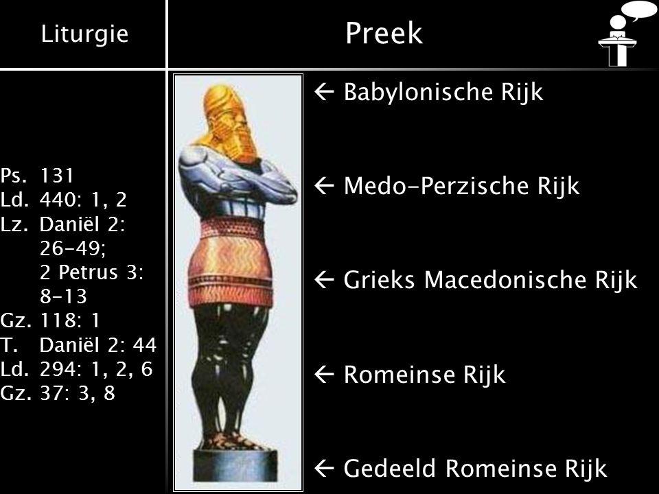 Preek  Babylonische Rijk  Medo-Perzische Rijk