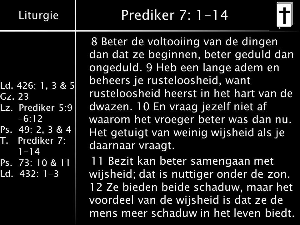 Prediker 7: 1-14