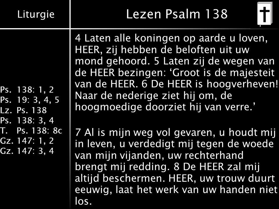 Lezen Psalm 138