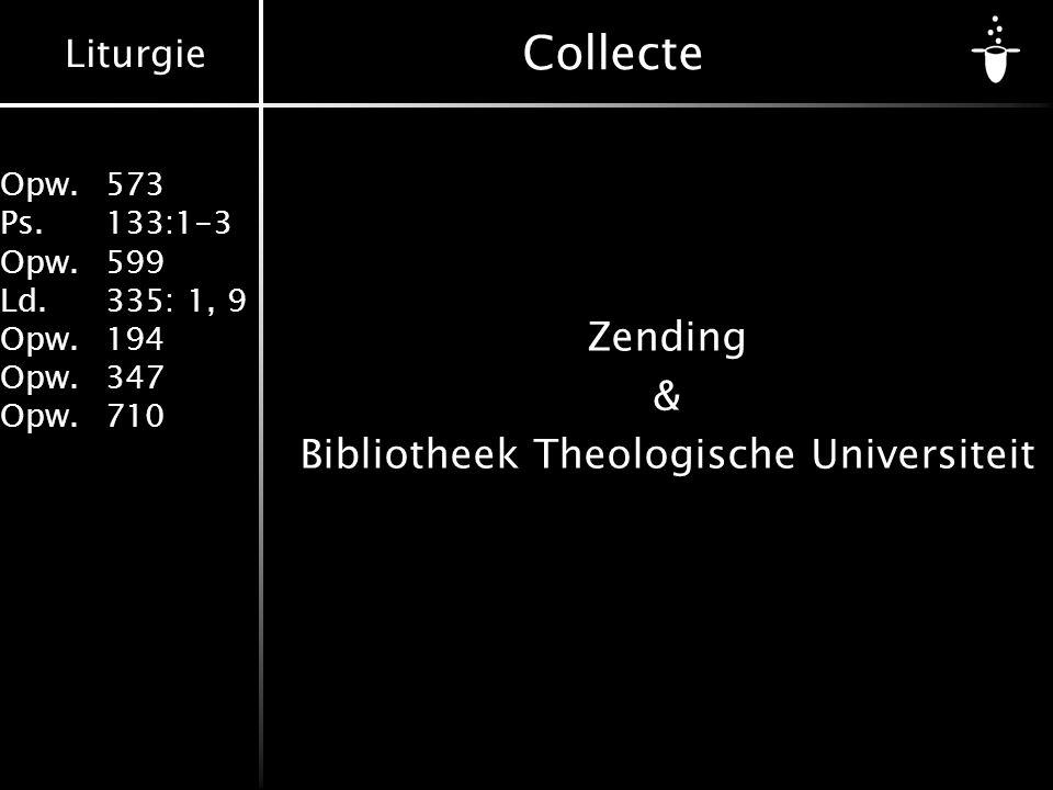 Zending & Bibliotheek Theologische Universiteit