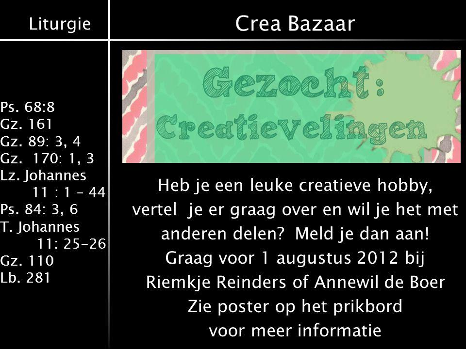 Crea Bazaar Heb je een leuke creatieve hobby,