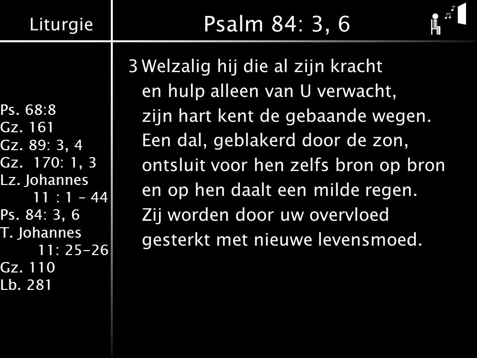 Psalm 84: 3, 6
