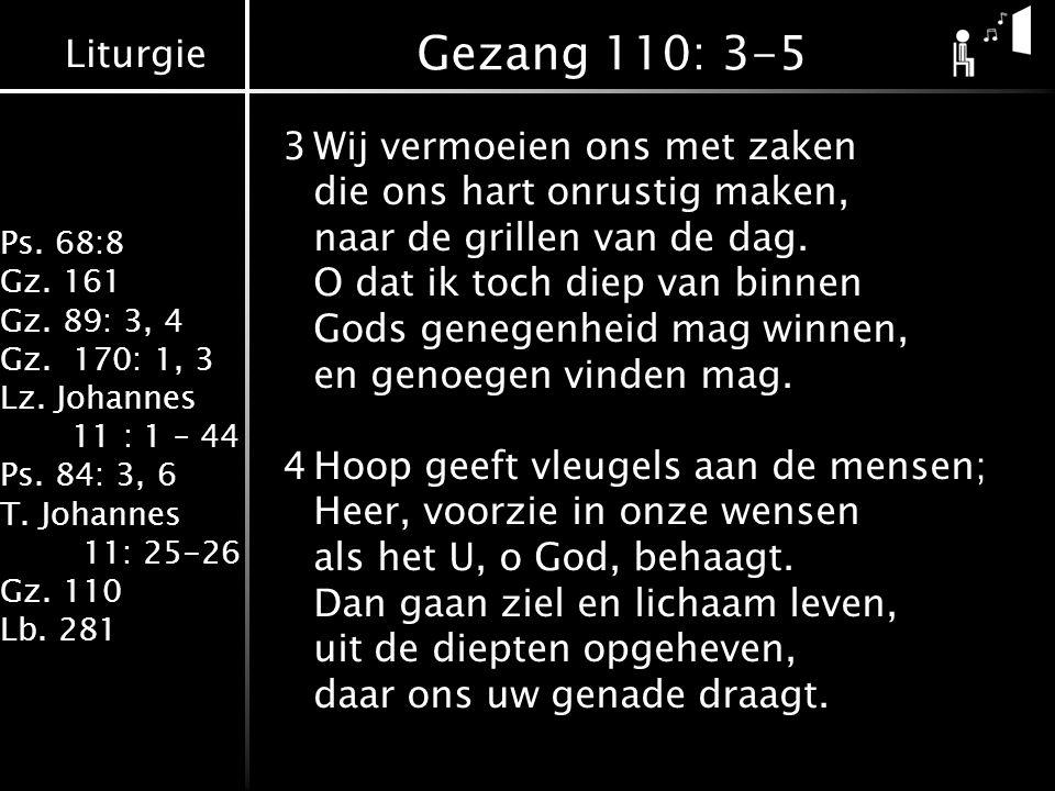 Gezang 110: 3-5