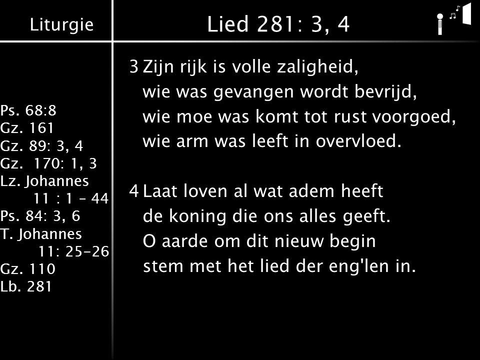 Lied 281: 3, 4