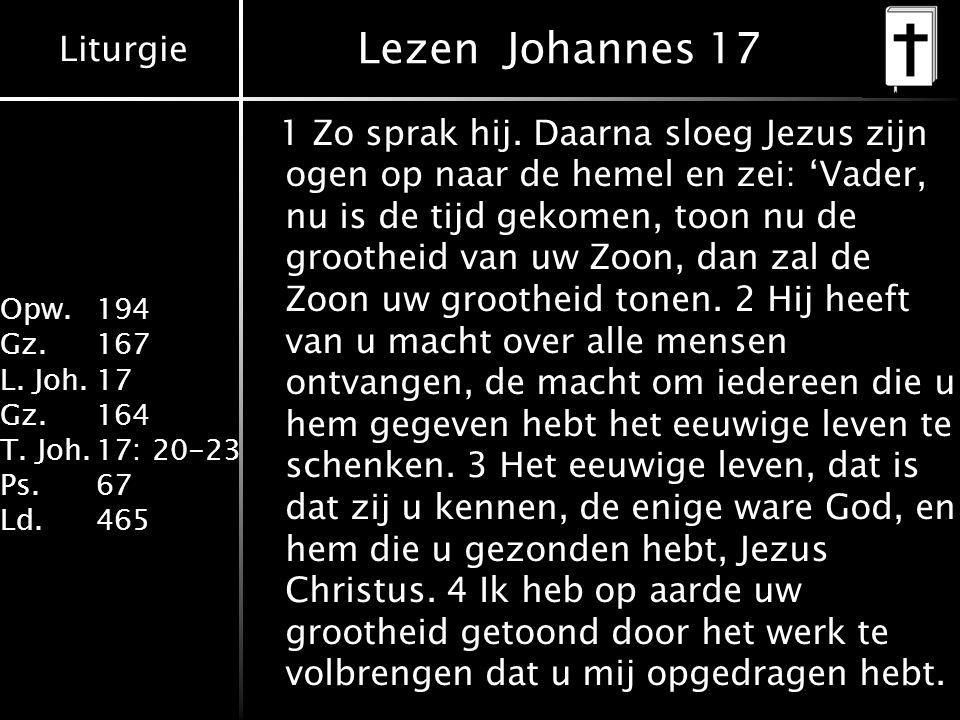 Lezen Johannes 17