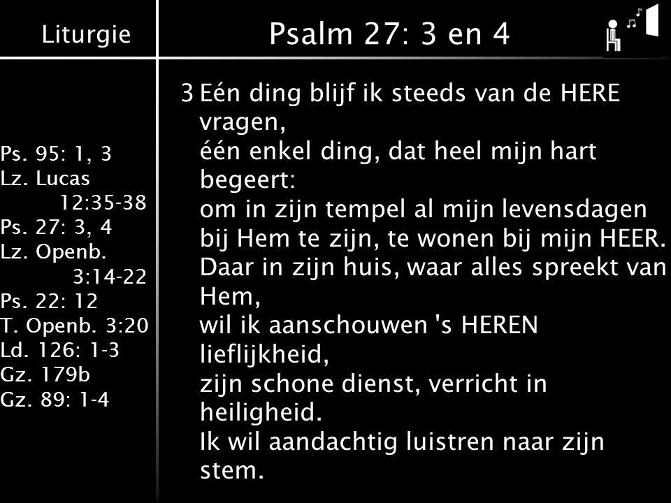 Psalm 27: 3 en 4