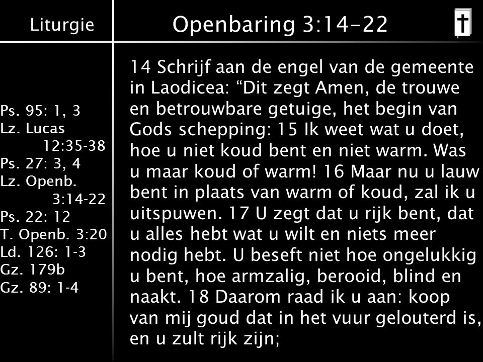Openbaring 3:14-22