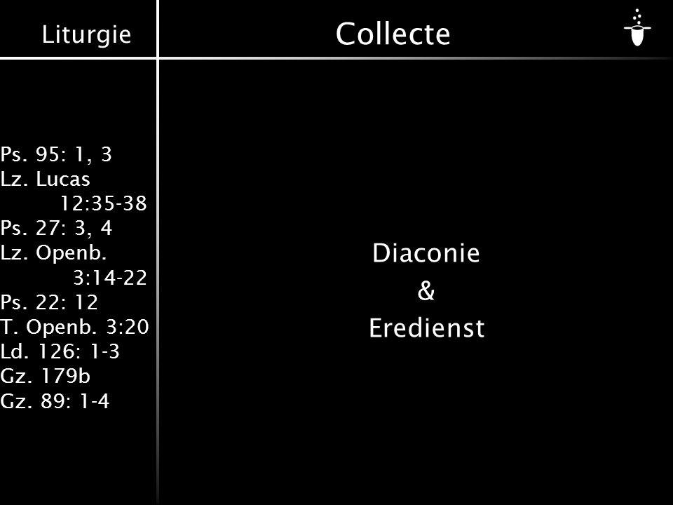 Collecte Diaconie & Eredienst