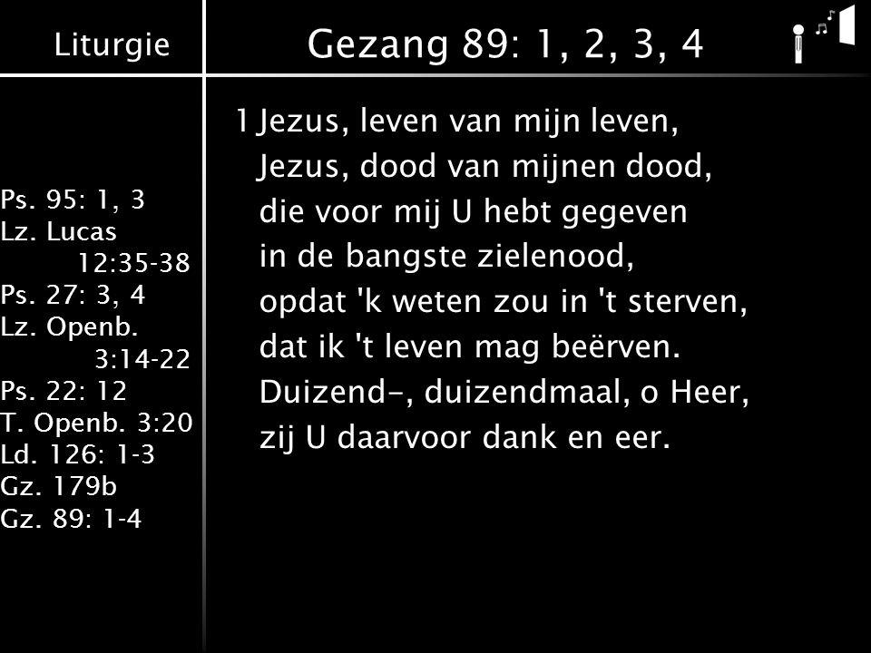 Gezang 89: 1, 2, 3, 4