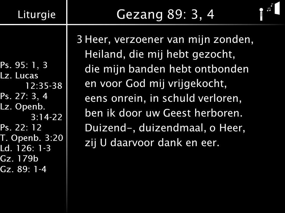 Gezang 89: 3, 4