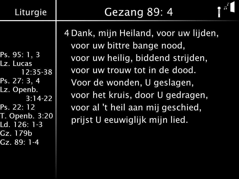 Gezang 89: 4