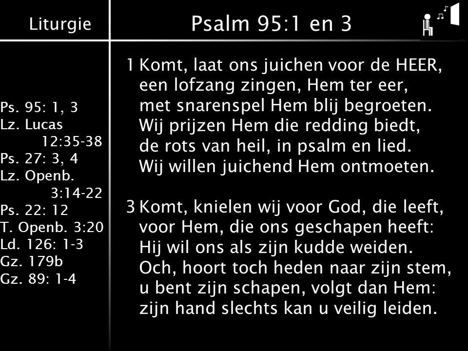Psalm 95:1 en 3