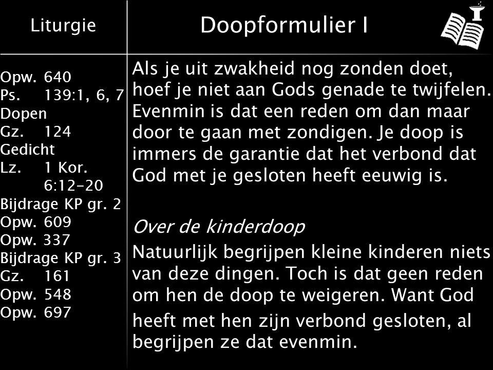 Doopformulier I