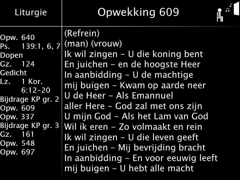Opwekking 609 (Refrein) (man) (vrouw)