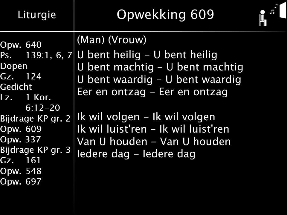 Opwekking 609 (Man) (Vrouw)