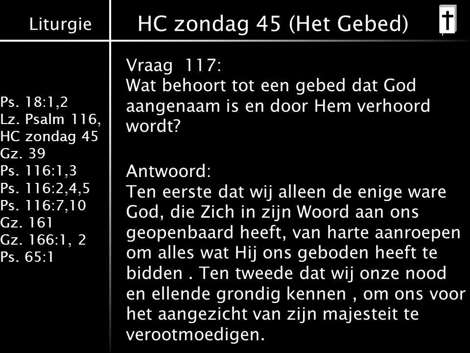 HC zondag 45 (Het Gebed)